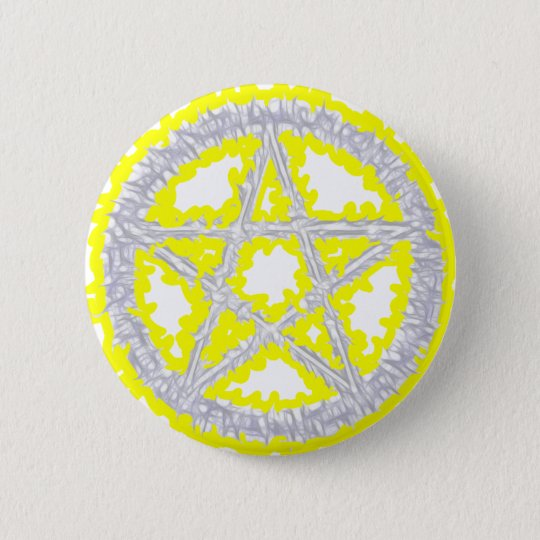 Pentacle of Air 6 Cm Round Badge