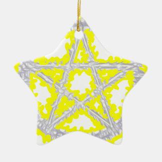 Pentacle of Air Ceramic Star Decoration