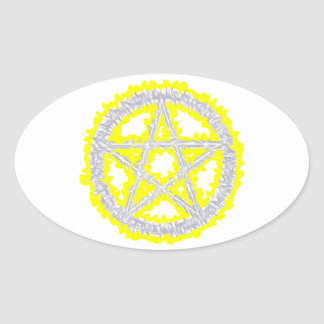Pentacle of Air Oval Sticker