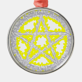 Pentacle of Air Silver-Colored Round Decoration