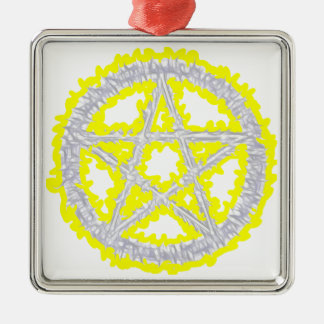 Pentacle of Air Silver-Colored Square Decoration
