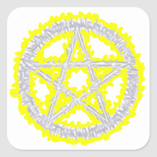 Pentacle of Air Square Sticker