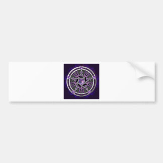 Pentacle Of The Purple Moon Bumper Sticker