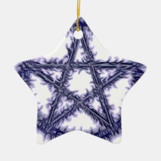 Pentacle of Water Ceramic Star Decoration