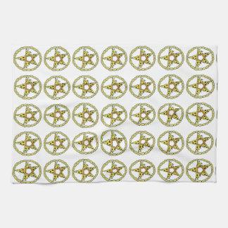 Pentacle Pizzas Tea Towel