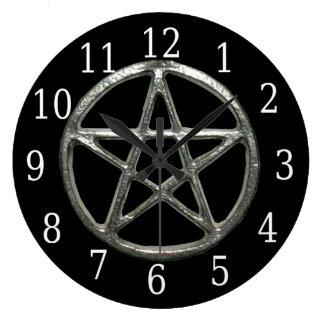 Pentacle Round Clock