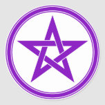 pentacle round stickers