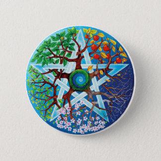 pentacle-seasons 6 cm round badge