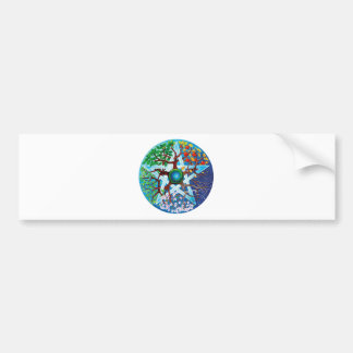 pentacle-seasons bumper sticker