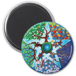 pentacle-seasons magnet