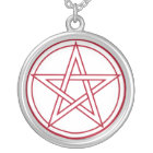 Pentacle Silver Plated Necklace