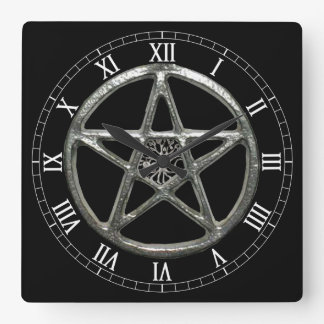 Pentacle Tree Of Life Square Roman Numerals Clock