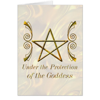 Pentacle Under the Protection of the Goddess Cards