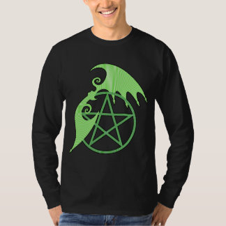 Pentacle Wings (green silhouette) T-Shirt