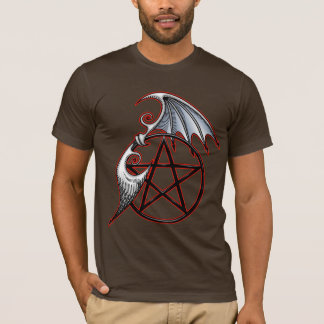 Pentacle Wings (red outline) T-Shirt