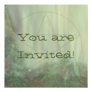 Pentacle Woodtone 13 Cm X 13 Cm Square Invitation Card