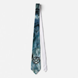 Pentacles: Black on Blue Hands Tie