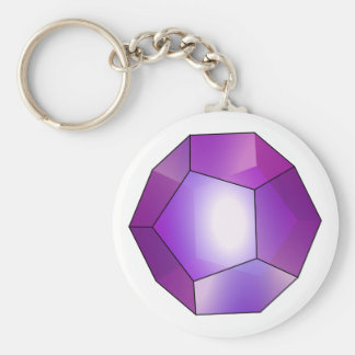 Pentagon Dodekaeder Dodecahedron Basic Round Button Key Ring