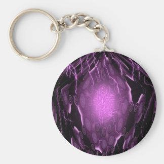 Pentagon Energy Lightning Basic Round Button Key Ring