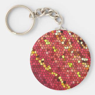 Pentagon Mosaic Keychains