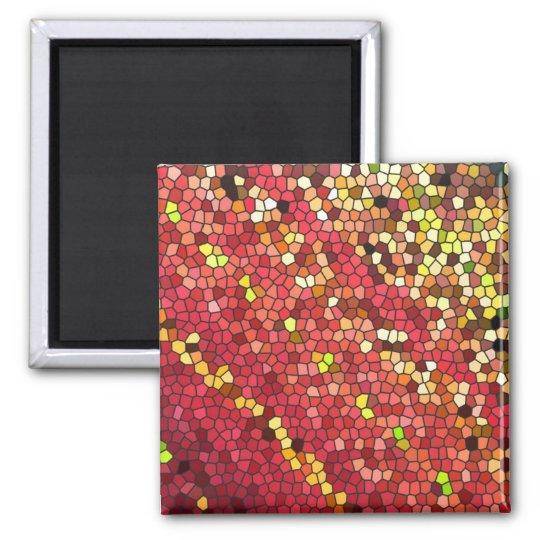 Pentagon Mosaic Square Magnet