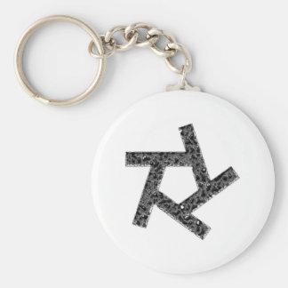 Pentagon of stars Pentagon of star Basic Round Button Key Ring