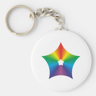 Pentagon rounded multicolored Pentagon rounded col Basic Round Button Key Ring