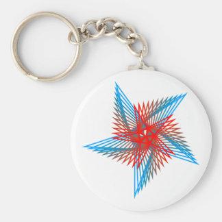 Pentagon sample Pentagon pattern Basic Round Button Key Ring