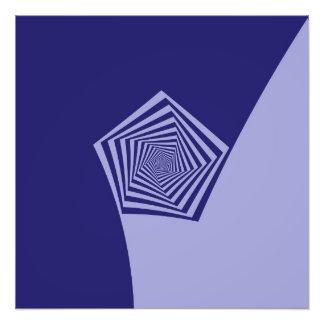 Pentagon Spiral Blues Photo Art
