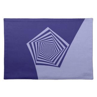 Pentagon Spiral Blues Placemats