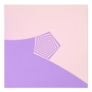 Pentagon Spiral in Pale Pink and Laven Photo Print