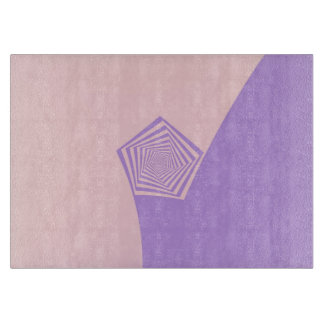 Pentagon Spiral in Pale Pink and Lavender Cutting Board