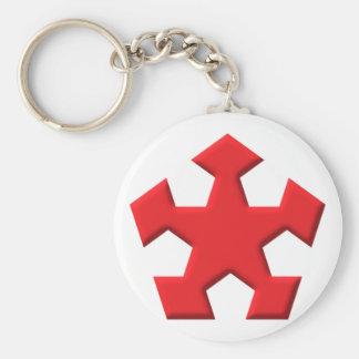 Pentagon star Pentagon star Keychain