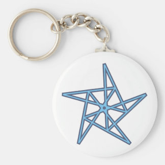Pentagon star Pentagon star Keychains
