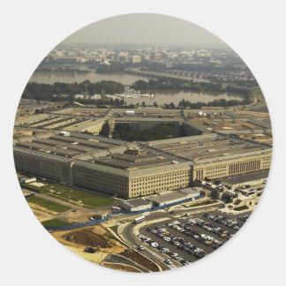 Pentagon Round Stickers
