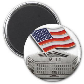 PENTAGON USA FLAG 6 CM ROUND MAGNET