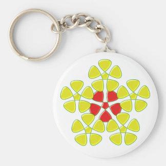 Pentagons of Pentagon Basic Round Button Key Ring