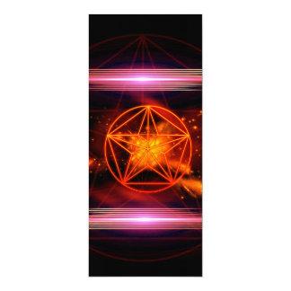 Pentagram 10 Cm X 24 Cm Invitation Card