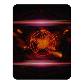Pentagram 11 Cm X 14 Cm Invitation Card