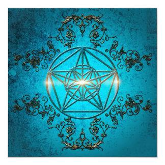 Pentagram, 13 Cm X 13 Cm Square Invitation Card