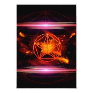 Pentagram 13 Cm X 18 Cm Invitation Card