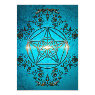 Pentagram, 13 Cm X 18 Cm Invitation Card