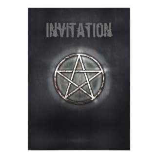 Pentagram 13 Cm X 18 Cm Invitation Card
