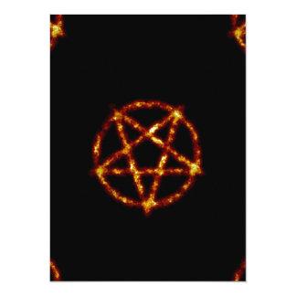 pentagram 14 cm x 19 cm invitation card