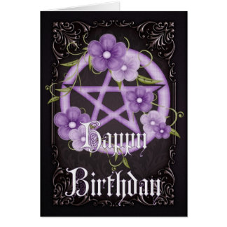 Wicca symbols cards invitations zazzle pentagram 4 wicca happy birthday greeting card m4hsunfo
