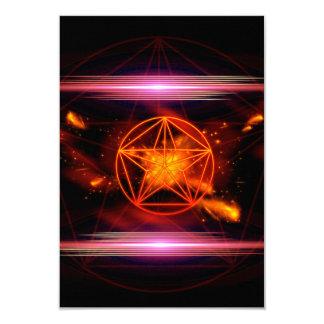 Pentagram 9 Cm X 13 Cm Invitation Card