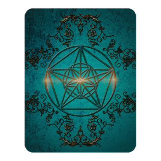 Pentagram, a mystic and magical symbol 11 cm x 14 cm invitation card