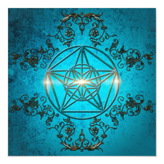 Pentagram, a mystic and magical symbol magnetic invitations