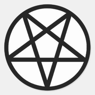 Pentagram Classic Round Sticker