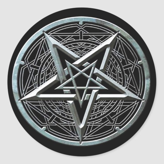 Pentagram Classic Round Sticker